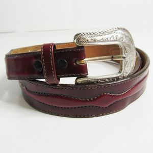 Justin Mens Tapered Cordovan Leather Belt Sz 40